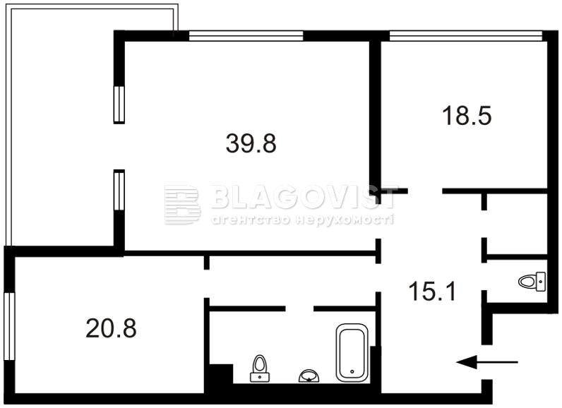 Квартира A-110460, Мельникова, 18б, Киев - Фото 6