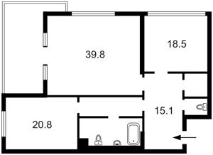Квартира Мельникова, 18б, Київ, A-110460 - Фото2