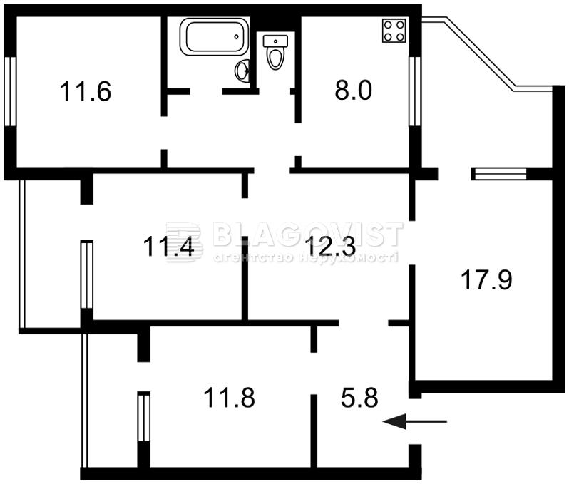 Квартира Z-465858, Ревуцького, 11г, Київ - Фото 3