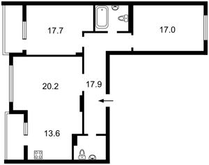 Квартира Сикорского Игоря (Танковая), 4д, Киев, Z-1796605 - Фото2