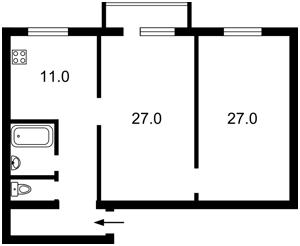 Квартира Курбаса Леся (50-річчя Жовтня) просп., 3в, Київ, Z-553955 - Фото2