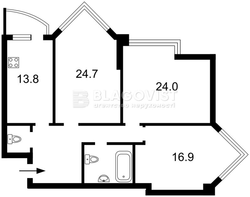 Квартира Z-1049952, Бульварно-Кудрявская (Воровского), 11а, Киев - Фото 4