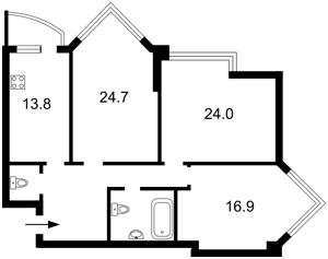 Квартира Бульварно-Кудрявская (Воровского) , 11а, Киев, Z-1049952 - Фото2