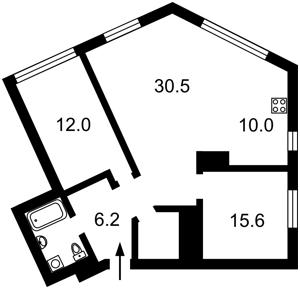 Квартира Липкивского Василия (Урицкого), 16а, Киев, F-42154 - Фото 2
