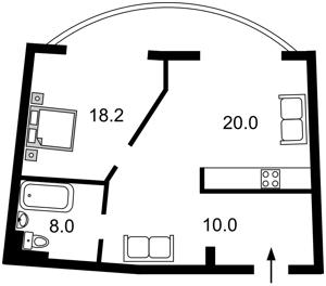 Квартира Урловская, 11а, Киев, D-35382 - Фото 2