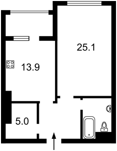 Квартира Драгомирова Михаила, 17, Киев, Z-512019 - Фото2