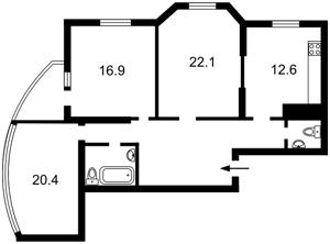 Квартира Мишуги О., 12, Київ, Z-1389050 - Фото2