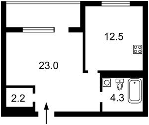 Квартира Журавлина, 4, Київ, Z-579960 - Фото2