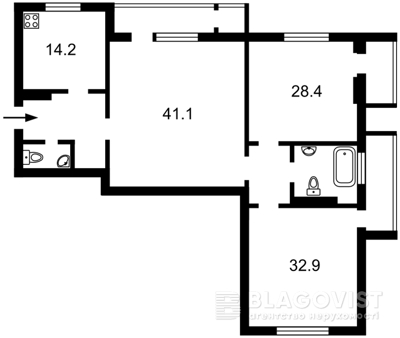 Квартира A-110508, Коновальца Евгения (Щорса), 44а, Киев - Фото 7
