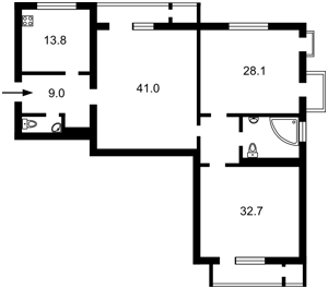 Квартира Коновальца Евгения (Щорса), 44а, Киев, A-110512 - Фото2