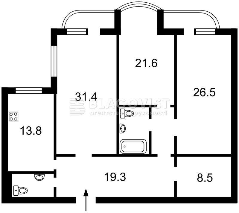 Квартира F-42211, Лабораторный пер., 6, Киев - Фото 6