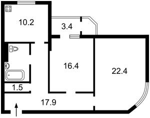 Квартира Кирилло-Мефодиевская, 2, Киев, R-28538 - Фото2