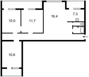 Квартира Героев Сталинграда просп., 14б, Киев, Z-573442 - Фото2