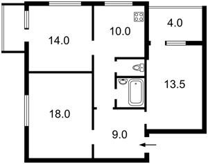 Квартира Лобановського просп. (Червонозоряний просп.), 128, Київ, Z-574482 - Фото2