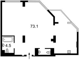 Квартира Болсуновская (Струтинского Сергея), 2, Киев, Z-542701 - Фото 2