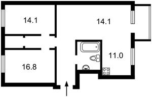 Квартира Вышгородская, 48а, Киев, Z-575102 - Фото2