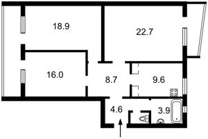Квартира Гоголівська, 36-40, Київ, Z-572760 - Фото2