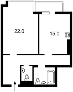 Квартира Липкивского Василия (Урицкого), 37б, Киев, F-42270 - Фото 2