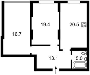Квартира Черновола Вячеслава, 27, Киев, Z-572763 - Фото 2