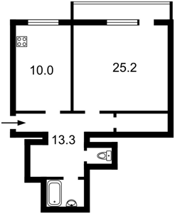 Квартира Тарасівська, 40/52, Київ, Z-1462424 - Фото 2