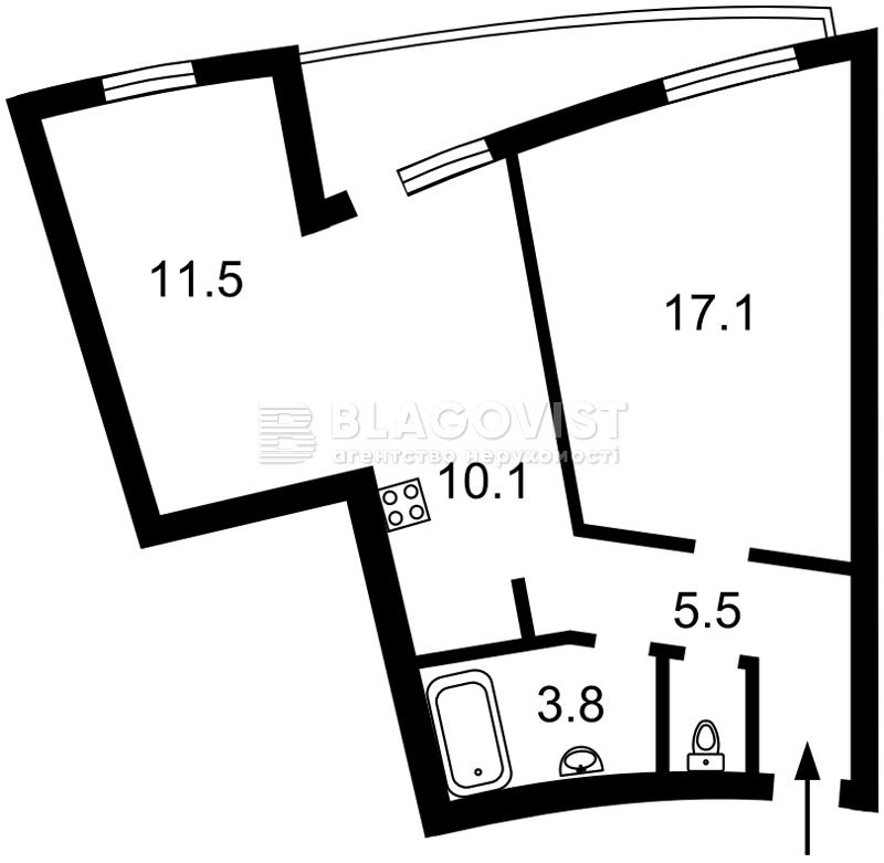 Квартира A-110560, Глибочицька, 43 корпус 1, Київ - Фото 3