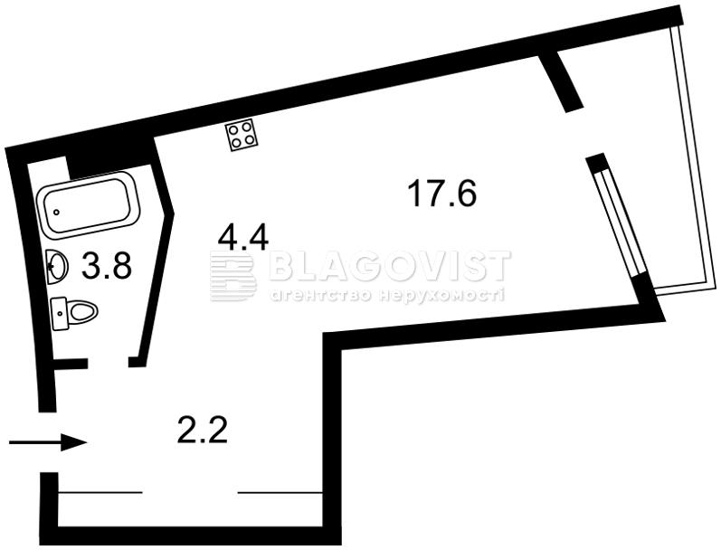 Квартира A-110558, Глубочицкая, 43 корпус 1, Киев - Фото 3
