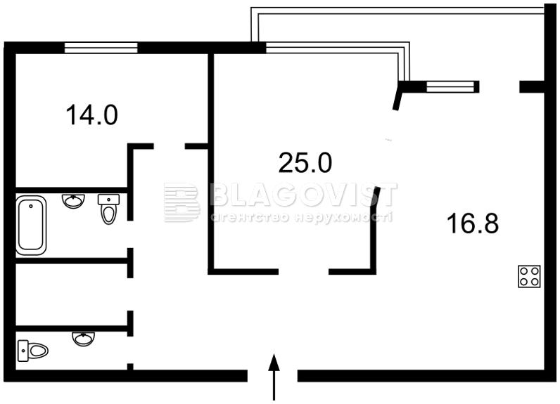 Квартира D-35173, Тютюнника Василя (Барбюса Анрі), 53, Київ - Фото 6