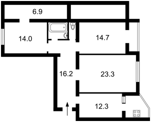 Квартира Григоренка П.просп., 26а, Київ, C-106865 - Фото2