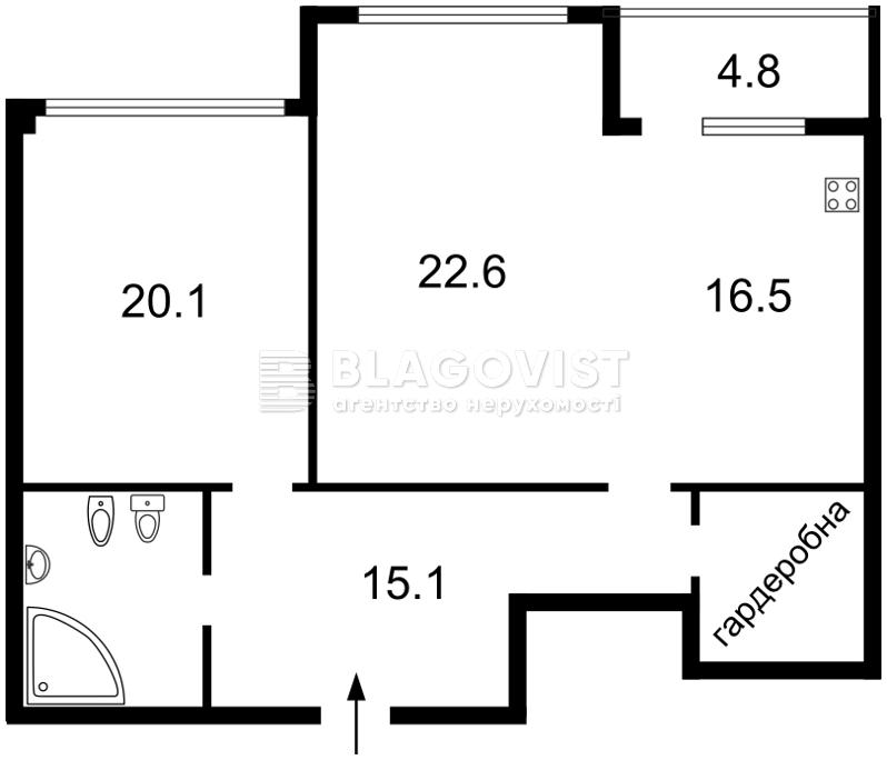 Квартира H-45332, Драгомирова Михаила, 12, Киев - Фото 6