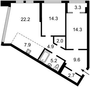 Квартира Победы просп., 11 корпус 1, Киев, Z-570998 - Фото2