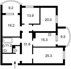 Квартира Героев Сталинграда просп., 4 корпус 4, Киев, Z-580482 - Фото2