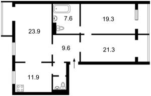 Квартира Ахматовой, 43, Киев, Z-403031 - Фото2