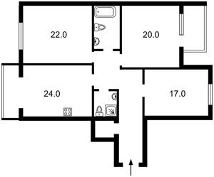 Квартира Панаса Мирного, 17, Київ, Z-302554 - Фото 2