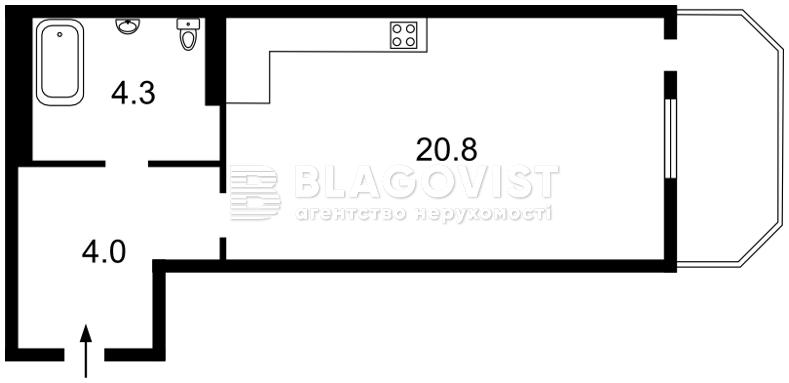 Квартира A-110650, Лысоргорский спуск, 26а корпус 1, Киев - Фото 4