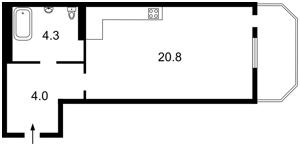 Квартира Лысоргорский спуск, 26а корпус 1, Киев, A-110650 - Фото2