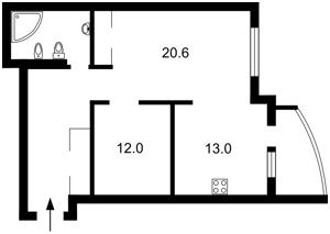 Квартира Голосіївський проспект (40-річчя Жовтня просп.), 60, Київ, F-42390 - Фото2