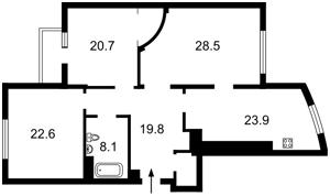 Квартира Лесі Українки бул., 7б, Київ, Z-582773 - Фото2