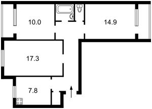 Квартира Якубовського Маршала, 2в, Київ, Z-583165 - Фото 2