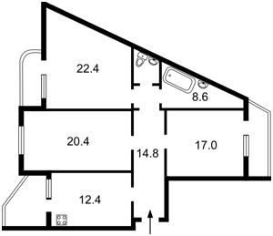 Квартира Ахматовой, 31, Киев, Z-1844227 - Фото2