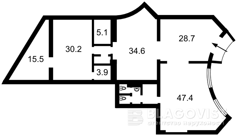 Нежилое помещение, H-45401, Героев Сталинграда просп., Киев - Фото 3