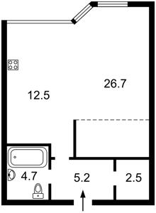 Квартира Парково-Сырецкая (Шамрыло Тимофея), 4в, Киев, F-34145 - Фото 2