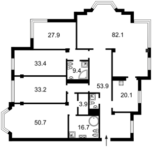 Квартира Грушевского Михаила, 9а, Киев, H-43809 - Фото2