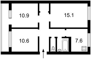 Квартира Емельяновича-Павленко Михаила (Суворова), 18/20, Киев, P-26856 - Фото2