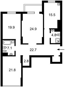 Квартира Туманяна Ованеса, 15а, Київ, R-29336 - Фото 2