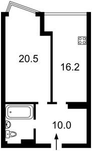 Квартира Драгоманова, 2а, Київ, Z-584343 - Фото 2
