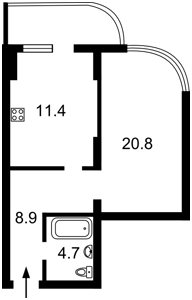 Квартира Драгомирова Михаила, 2а, Киев, M-36465 - Фото2