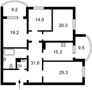 Квартира Героїв Сталінграду просп., 10а, Київ, Z-585865 - Фото2