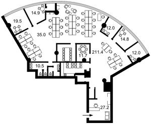 Бизнес-центр, Болсуновская (Струтинского Сергея), Киев, D-25479 - Фото 2
