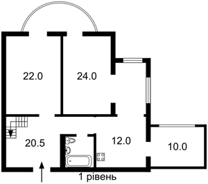 Квартира Героїв Сталінграду просп., 22, Київ, R-29556 - Фото 2