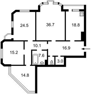 Квартира Коновальца Евгения (Щорса), 32б, Киев, Z-585136 - Фото2
